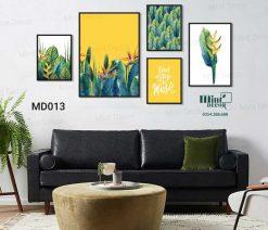 Bộ 5 tranh cây lá nhiệt đới