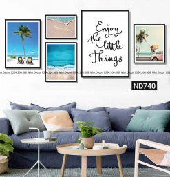 bộ 5 tranh biển love your life