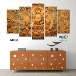bộ 5 tranh Đức Phật tôn kính