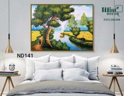 tranh cây đa bên sông