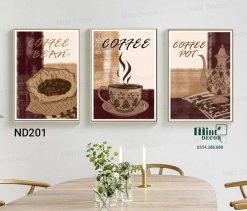 bộ 3 tranh coffee bean spot