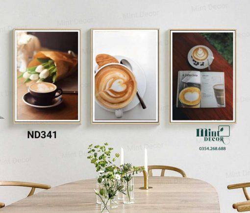 Bộ 3 tranh enjoy coffee