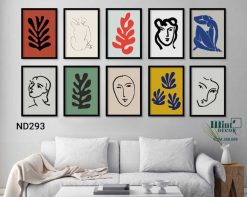 bộ 10 tranh cut-outs Matisse