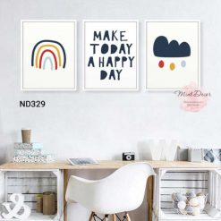 bộ 3 tranh make today a happy day