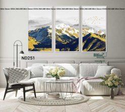 bộ 3 tranh núi tuyết hùng vĩ