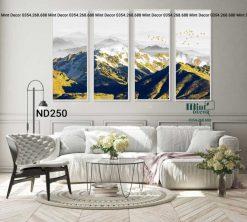 bộ 4 tranh núi tuyết hùng vĩ