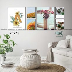 bộ 6 tranh hoa hướng dương