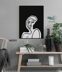 tranh line art nghệ thuật