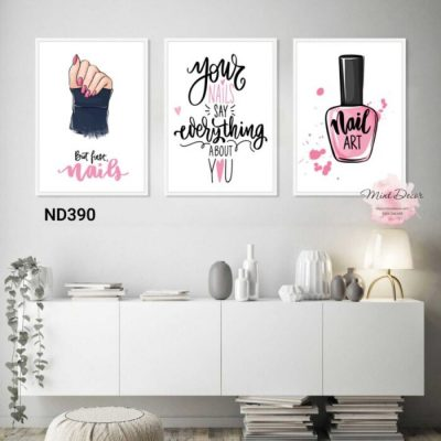 bộ 3 tranh your nails say everything abut you