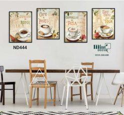 bộ 4 tranh cà phê địa danh nổi tiếng