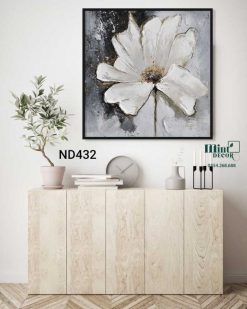 tranh hoa trắng sang trọng
