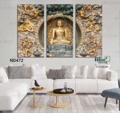 bộ 3 tranh Phật toạ