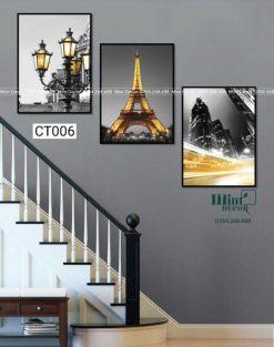 Bộ 3 tranh cầu thang CT006