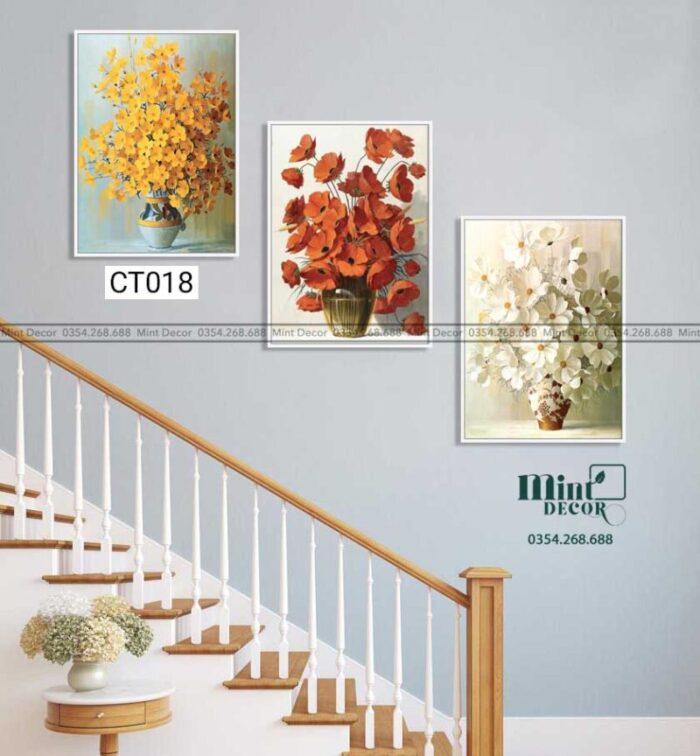 Bộ 3 tranh cầu thang CT018