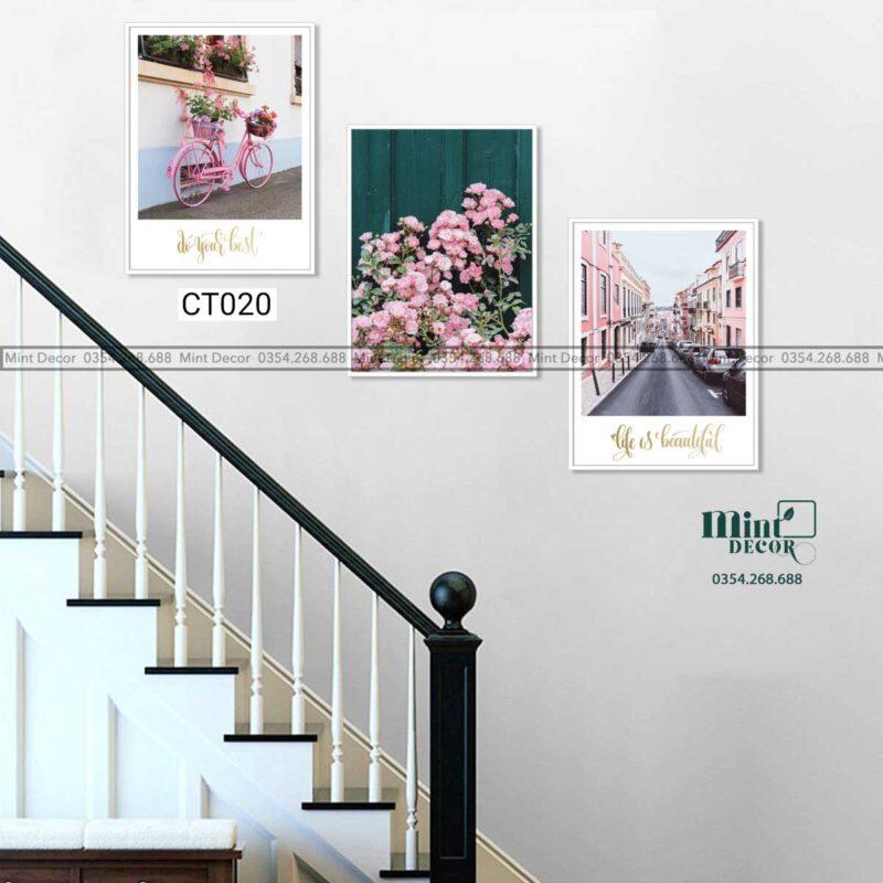 Bộ 3 tranh cầu thang CT020