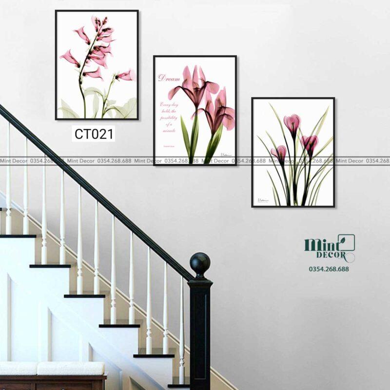 Bộ 3 tranh cầu thang CT021