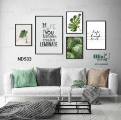 bộ 5 tranh quotes make lemonade