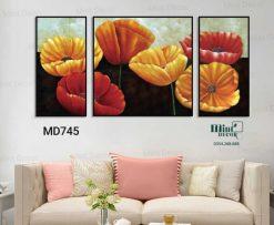bộ 3 tranh hoa đẹp mĩ miều