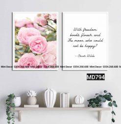 Bộ 2 tranh hoa hồng