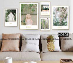 Bộ 5 tranh phong cảnh mùa xuân