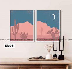 bộ 2 tranh sa mạc ngày và đêm