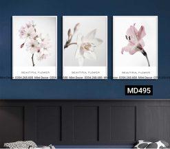 bộ 3 tranh hoa ly hồng