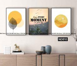 bộ 3 tranh mặt trời trừu tượng