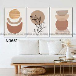 bộ 3 tranh trừu tượng minimalism