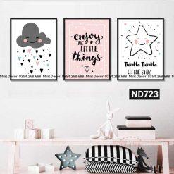 bộ 3 tranh twinkle twinkle little star