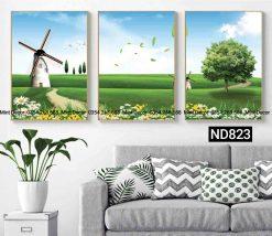 bộ 3 tranh cối xay gió