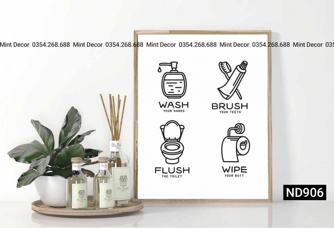 tranh wash-brush-flush-wipe