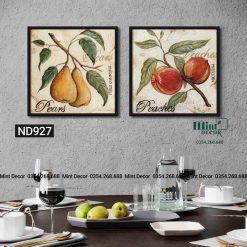 bộ 2 tranh trái cây 2