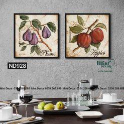 bộ 2 tranh trái cây