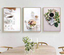 Bộ 3 tranh bữa sáng healthy