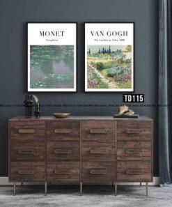 Bo 2 tranh Monet - Van Gogh
