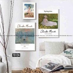 Bo 3 Tranh Claude Monet