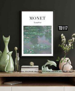 Tranh Monet - Nymphéas