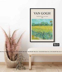 Tranh Van Gogh - Field with Irises near Arles