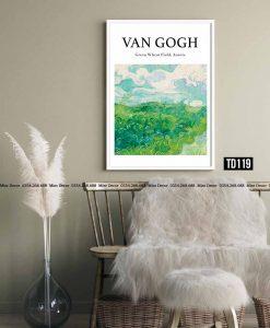 Tranh Van Gogh - Green Wheat Field