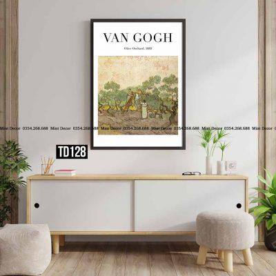 Tranh Van Gogh - Olive Orchard