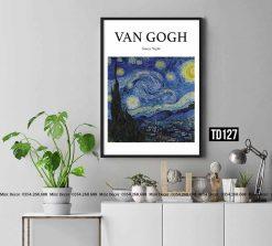 Tranh Van Gogh - Starry Night