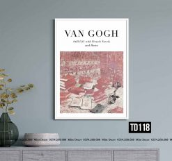 Tranh Van Gogh - Still Life with French Novels and Roses