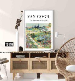 Tranh Van Gogh - The Garden at Arles