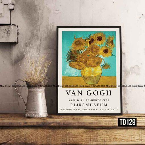 Tranh Van Gogh - Vase with 12 Sunflowers