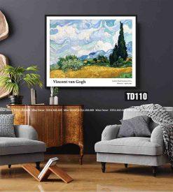 Tranh Van Gogh - Wheatfield with Cypresses